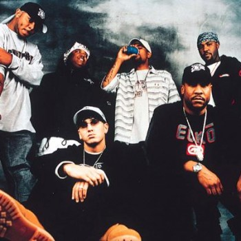 Promotional pic taken with his D12 posse.