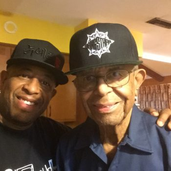 DAD with Gang Starr Hat & SON PIC
