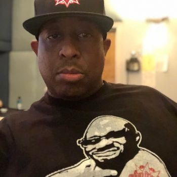 DJ Premier with GS Red Hat and Guru Tattoo Tee