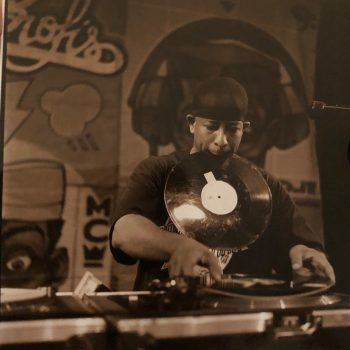 DJ Premier Pic--Vinyl In Mouth